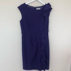 Calvin Klein  sleveless purple dress